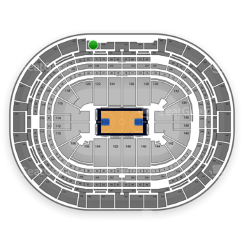 Denver Nuggets at Pepsi Center Section 338 View