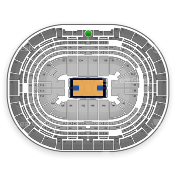 Denver Nuggets at Pepsi Center Section 342 View