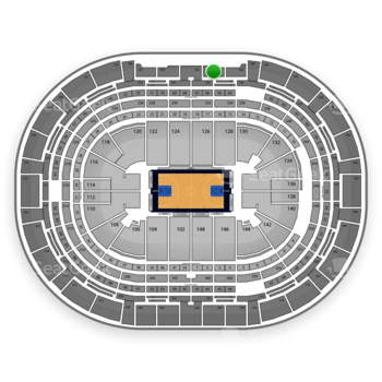 Denver Nuggets at Pepsi Center Section 344 View
