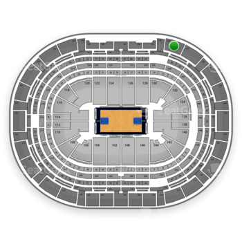 Denver Nuggets at Pepsi Center Section 350 View