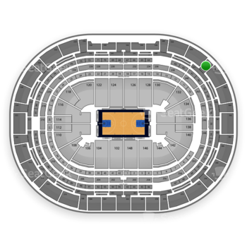 Denver Nuggets at Pepsi Center Section 354 View