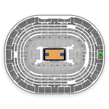 Denver Nuggets at Pepsi Center Section 362 View