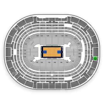 Denver Nuggets at Pepsi Center Section 364 View