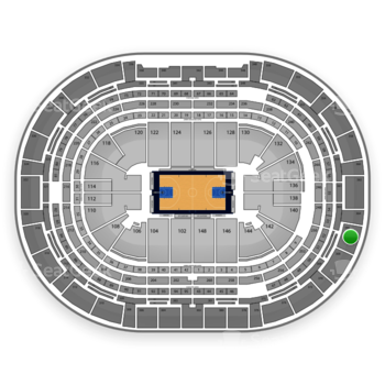 Denver Nuggets at Pepsi Center Section 366 View