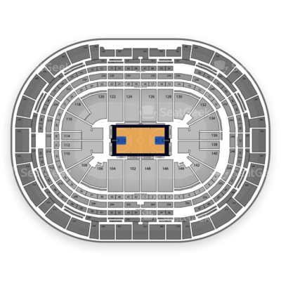 Pepsi Center seating chart Denver Nuggets