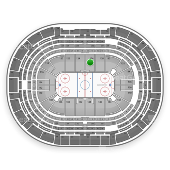 Colorado Avalanche at Pepsi Center Section 126 View