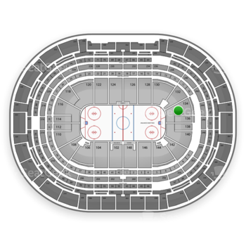 Colorado Avalanche at Pepsi Center Section 134 View