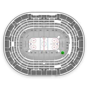 Colorado Avalanche at Pepsi Center Section 142 View