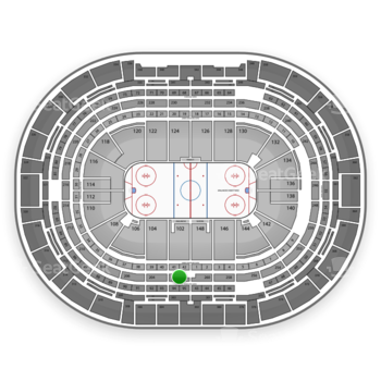 Colorado Avalanche at Pepsi Center Section 202 View