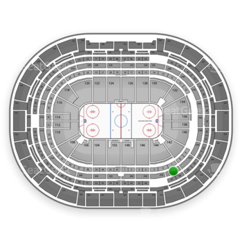 Colorado Avalanche at Pepsi Center Section 254 View