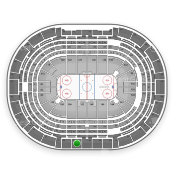 Colorado Avalanche at Pepsi Center Section 304 View