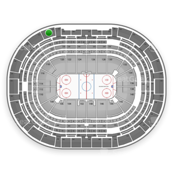 Colorado Avalanche at Pepsi Center Section 334 View