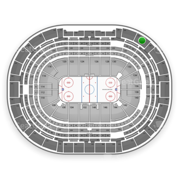 Colorado Avalanche at Pepsi Center Section 352 View