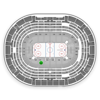 NHL at Pepsi Center Section 104 View
