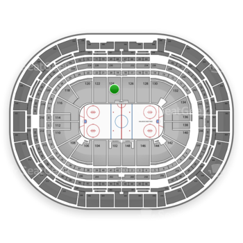 NHL at Pepsi Center Section 124 View