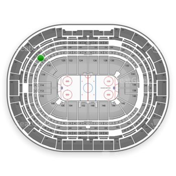 NHL at Pepsi Center Section 222 View