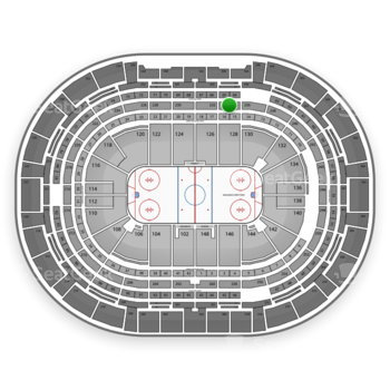 NHL at Pepsi Center Section 234 View