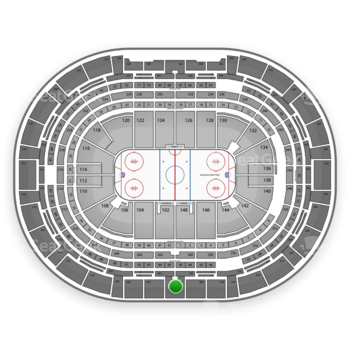 NHL at Pepsi Center Section 302 View