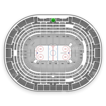 NHL at Pepsi Center Section 342 View