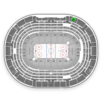NHL at Pepsi Center Section 350 View