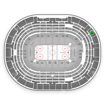 NHL at Pepsi Center Section 356 View