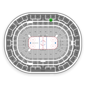 Colorado Avalanche at Pepsi Center Section 305 View