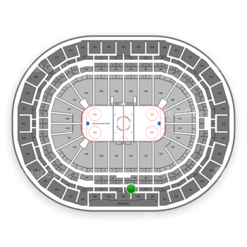 Colorado Avalanche at Pepsi Center Section 341 View