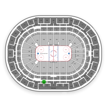 Colorado Avalanche at Pepsi Center Section 345 View