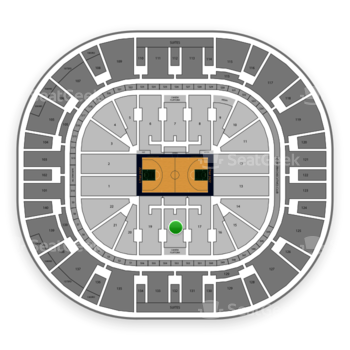 Utah Jazz at Vivint Smart Home Arena Section 18 View