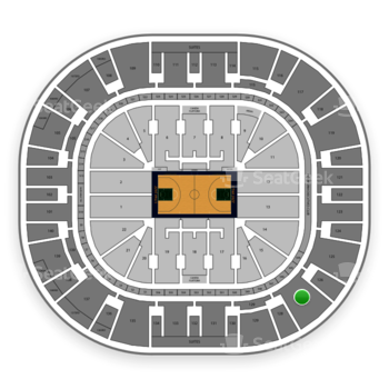 Utah Jazz at Vivint Smart Home Arena Section 127 View