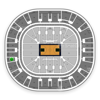 Utah Jazz at Vivint Smart Home Arena Section 140 View