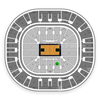 Utah Jazz at Vivint Smart Home Arena Section 17 View