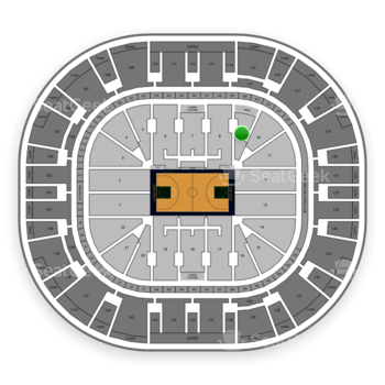 Utah Jazz at Vivint Smart Home Arena Section 9 View