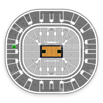 Utah Jazz at Vivint Smart Home Arena Section 103 View