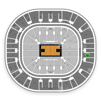 Utah Jazz at Vivint Smart Home Arena Section 123 View