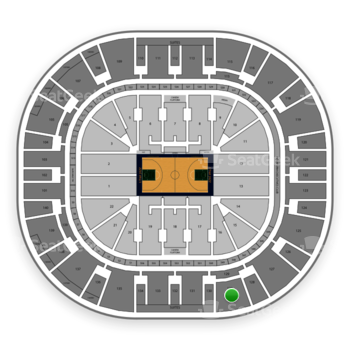 Utah Jazz at Vivint Smart Home Arena Section 129 View