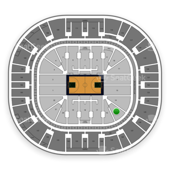 Utah Jazz at Vivint Smart Home Arena Section 15 View