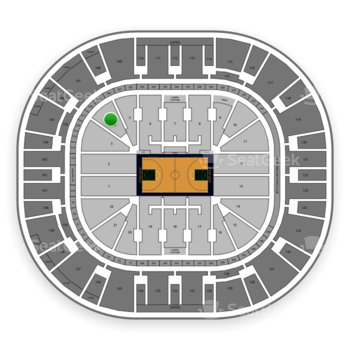 Utah Jazz at Vivint Smart Home Arena Section 4 View