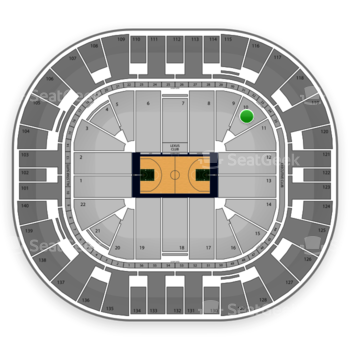 Utah Jazz at EnergySolutions Arena Section 10 View