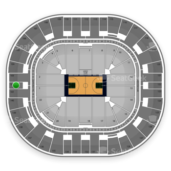 Utah Jazz at EnergySolutions Arena Section 102 View