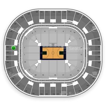 Utah Jazz at EnergySolutions Arena Section 103 View