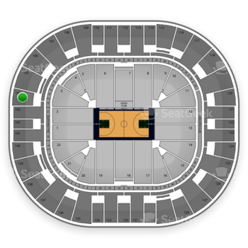 Utah Jazz at EnergySolutions Arena Section 104 View
