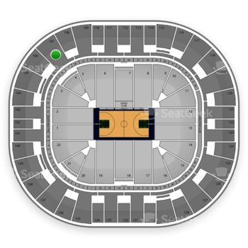 Utah Jazz at EnergySolutions Arena Section 107 View