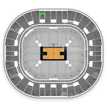 Utah Jazz at EnergySolutions Arena Section 110 View