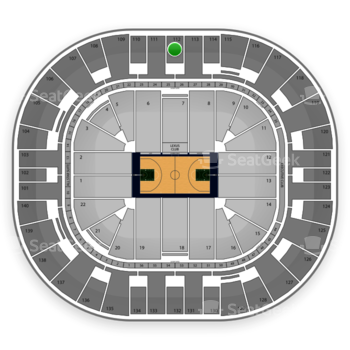 Utah Jazz at EnergySolutions Arena Section 112 View