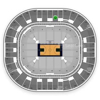 Utah Jazz at EnergySolutions Arena Section 113 View