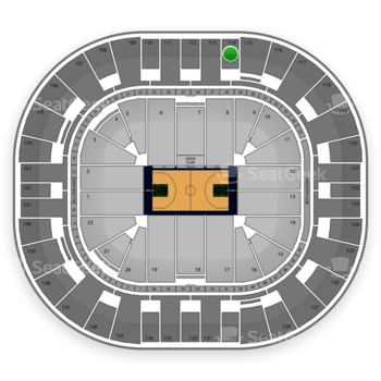 Utah Jazz at EnergySolutions Arena Section 114 View