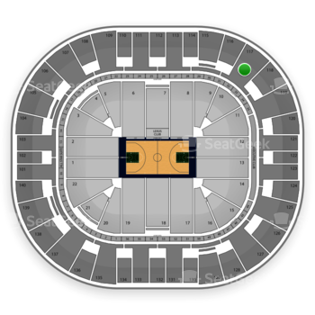 Utah Jazz at EnergySolutions Arena Section 117 View