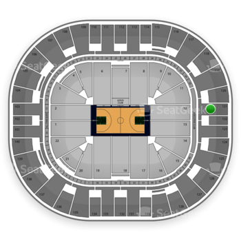 Utah Jazz at EnergySolutions Arena Section 121 View