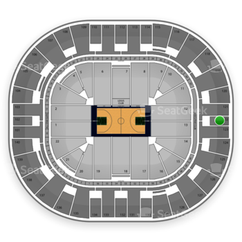 Utah Jazz at EnergySolutions Arena Section 122 View